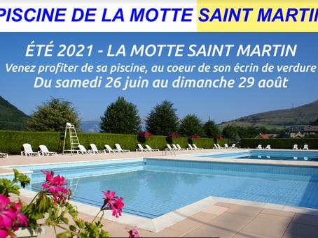 OUVERTURE DE LA PISCINE - LA MOTTE ST MARTIN