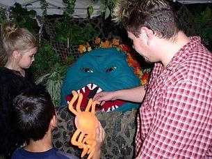 Feeding Swamp Monster
