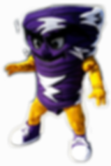 Tornado Custom Mascot Purple