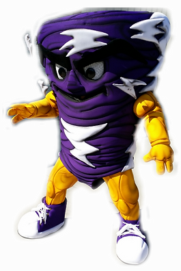 Tornado Custom Mascot Purple