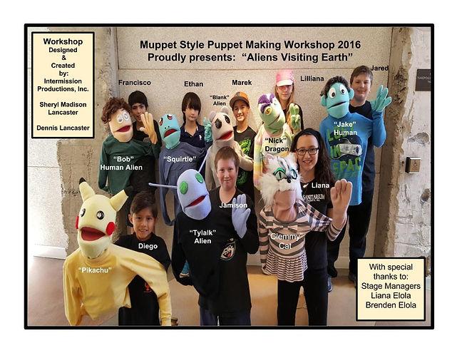 Muppet Style Puppet Making Class 2016