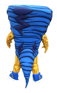 Tornado Custom Mascot back view