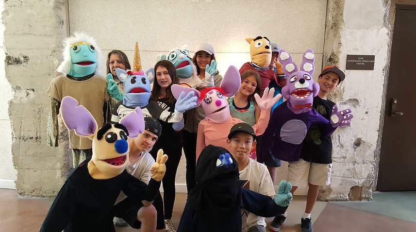 Muppet Style Puppet Making Workshop Cast 2017