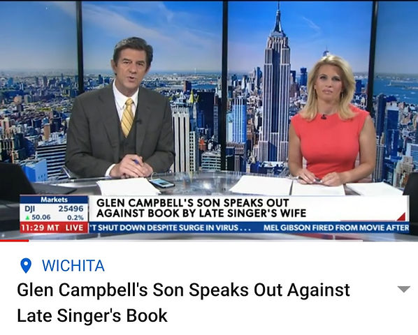 Glen Campbell's Son Speaks Out