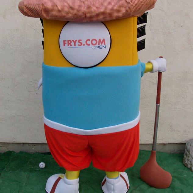 Golf Pro Charlie Chip Backview
