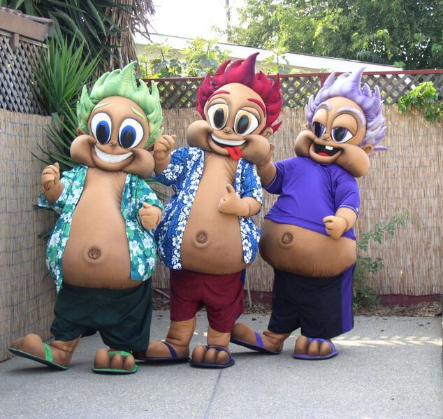 Hawaiian Baseball Mascots