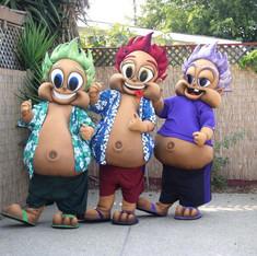 Hawaiian Baseball Mascots