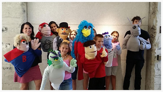 Muppet Style Puppet Making Workshop students 2015