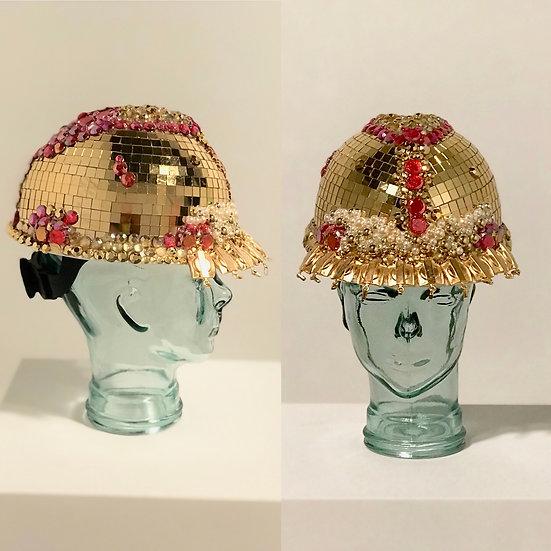 Gold Disco Ball Hard Hat