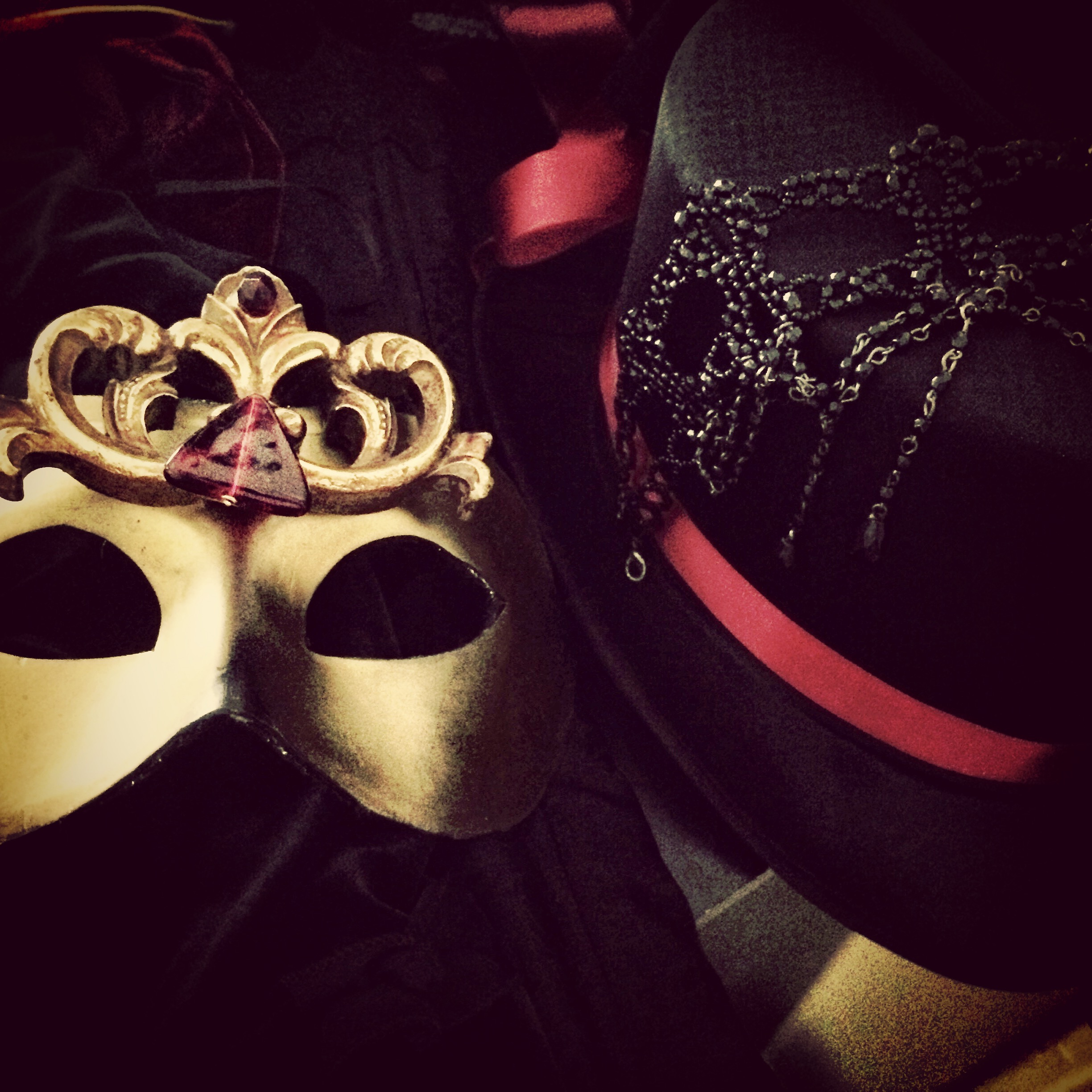 Gold Mask & Top Hat