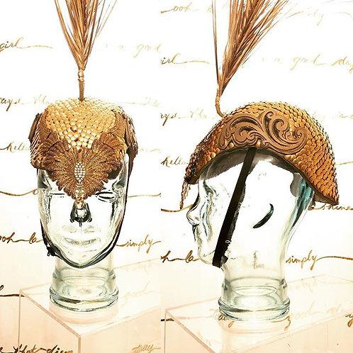 Gold Fashion Gladiator Helmet for Burning Man