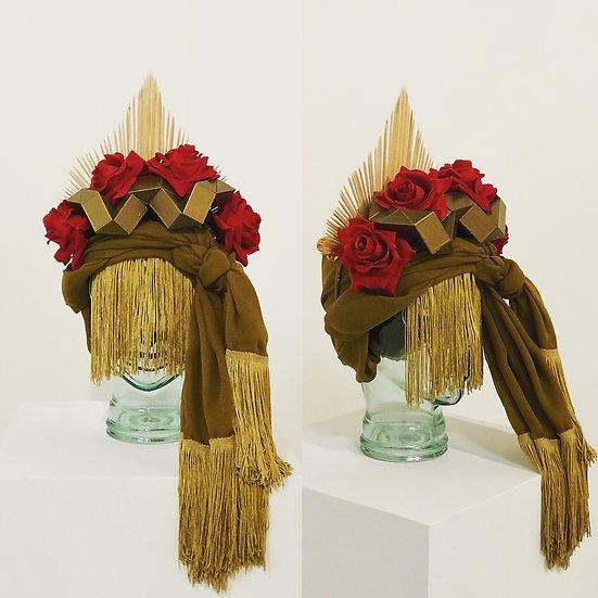 Iansa Red Rose Gold Headdress