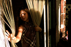 Girls on curtain