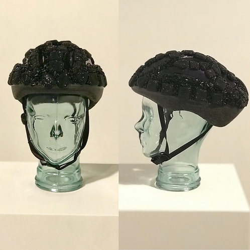 Bejeweled Bedazzled Bicycle Black Panther Inspired Helmet