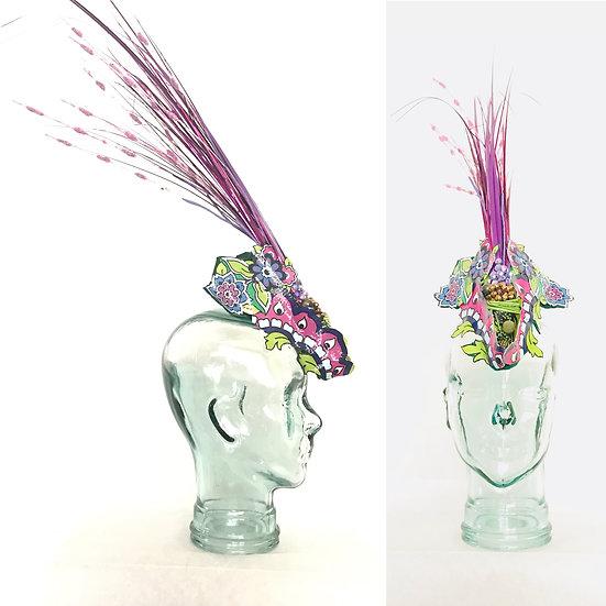 Bejeweled Bedazzled Purple Headdress Mohawk