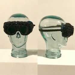 Bejeweled Bedazzled Dust Goggle Mask