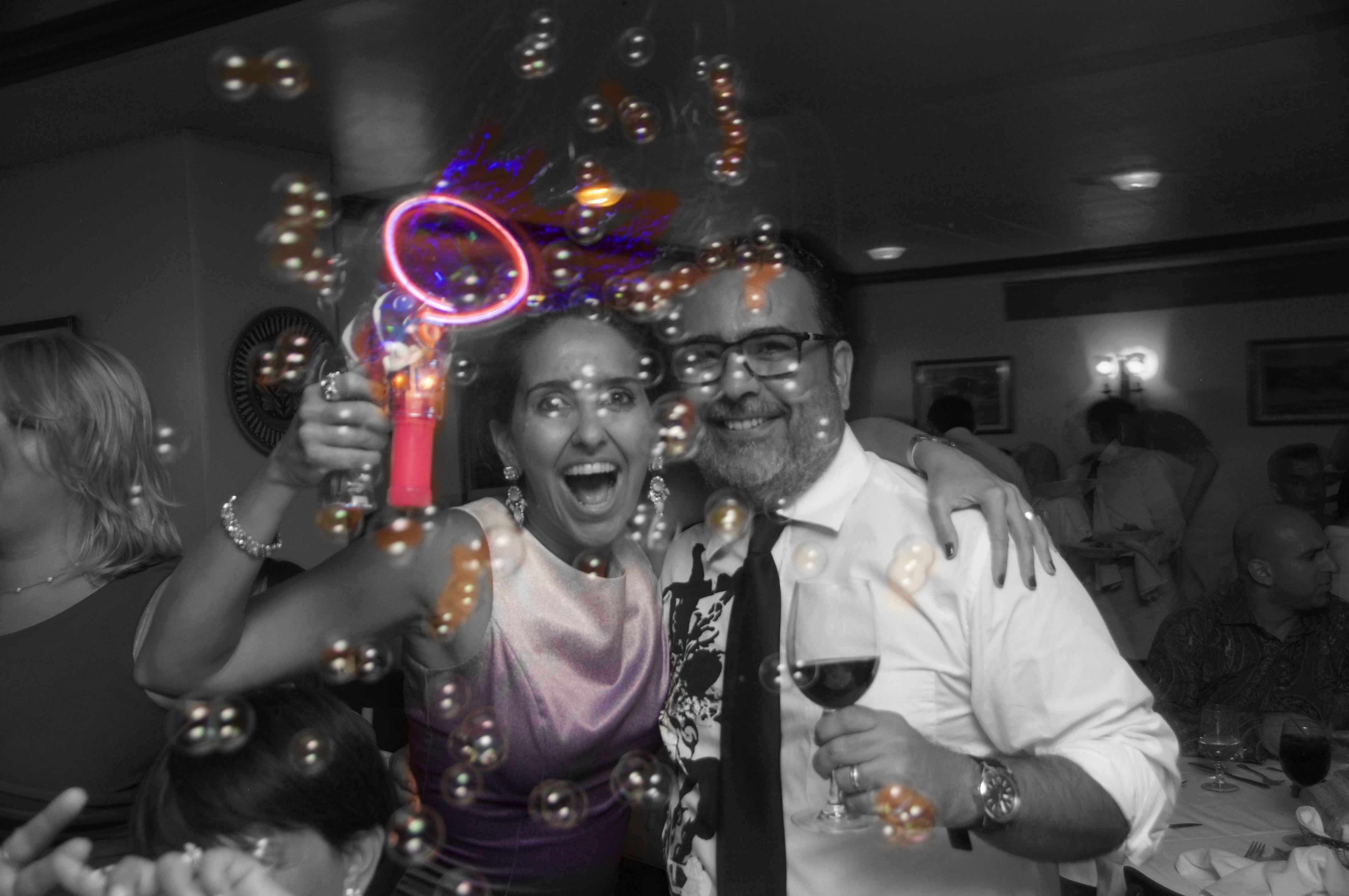 Nana & Ricardo + bubbles