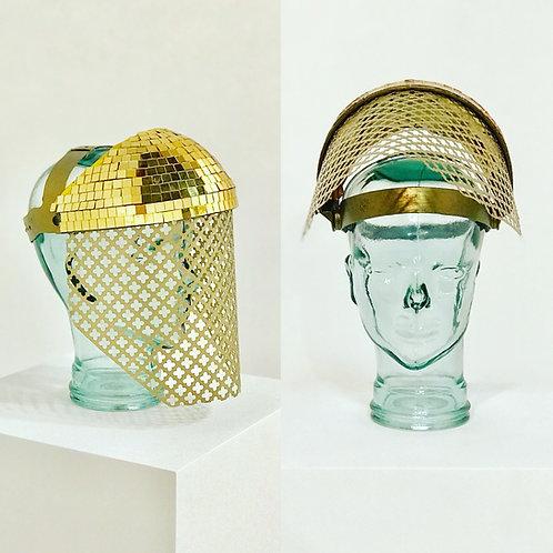 Gold Disco Ball Visor Shield