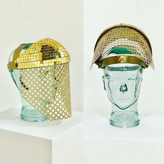 Gold Disco Ball Visor Shield