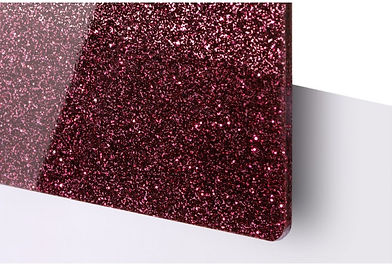 Dark Red Glitter Acrylic