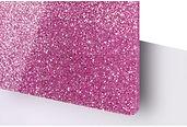 Pink Glitter Acrylic