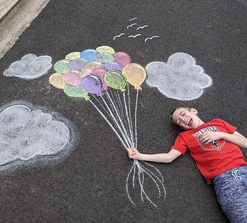 Interactive sidewalk chalk