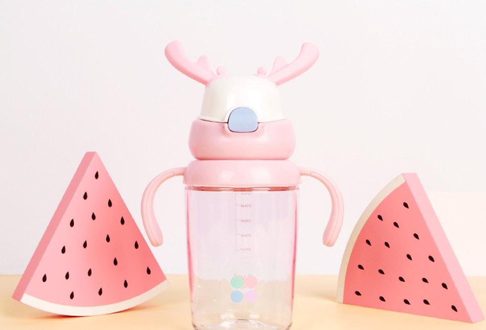 兒童麋鹿涼水杯 粉紅色