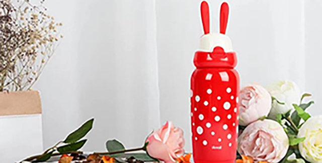 兒童萌兔保溫瓶 聖誕兔