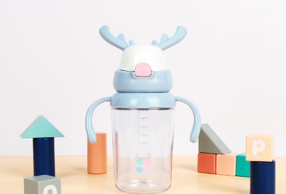 兒童麋鹿涼水杯 粉藍色