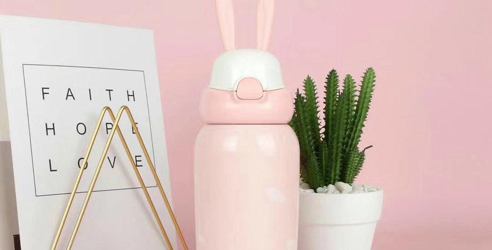 兒童萌兔保溫瓶 粉紅兔