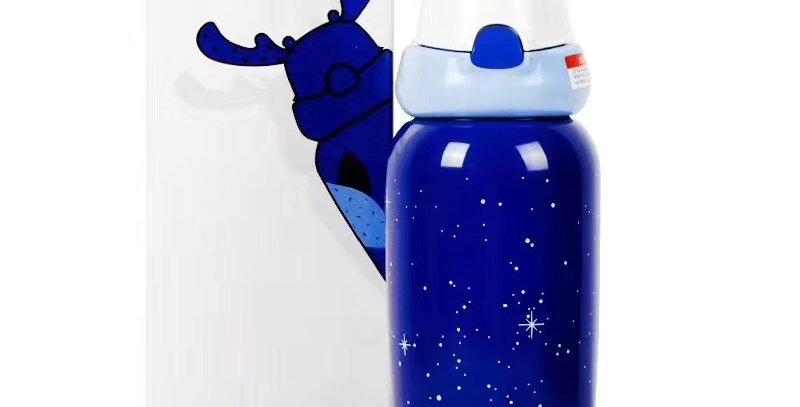 兒童麋鹿保溫瓶 星空藍