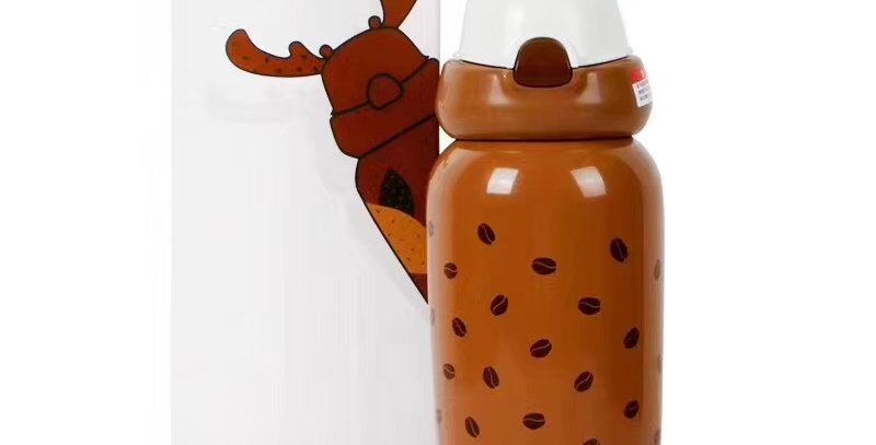 兒童麋鹿保溫瓶 棕栗咖