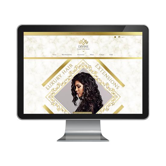 Gold Luxury Hair Website Template
