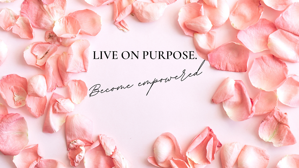Gracefully Spoken Homepage Banner - Live on Purpose