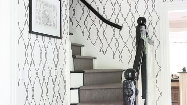 modern farmhouse entry foyer gloss black