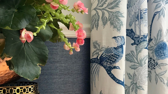 Grasscloth and Chinoiserie