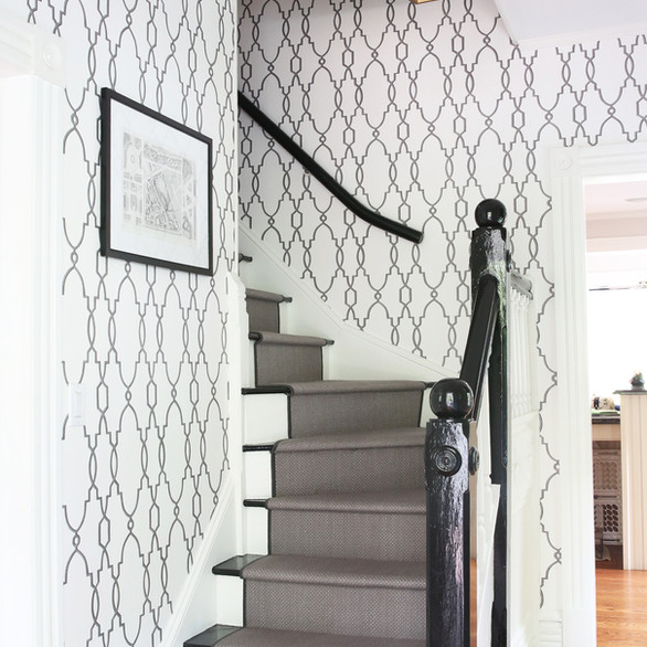 Stairwell with glossy railings