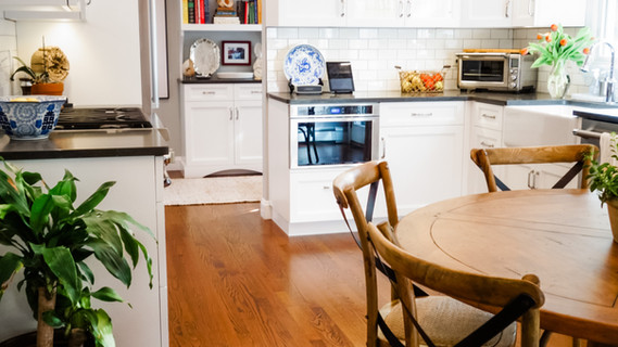 modern traditional kitchen white cabinet