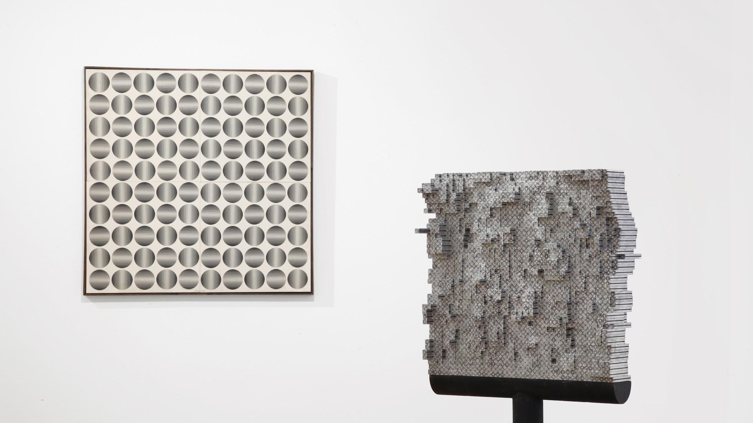 Exhibition views Zagreb Calling. Ivan Picelj, Vjenceslav Richter and Julije Knifer. Cortesi Gallery, Milano. Photo by Bruno Bani. Courtesy of Cortesi Gallery.