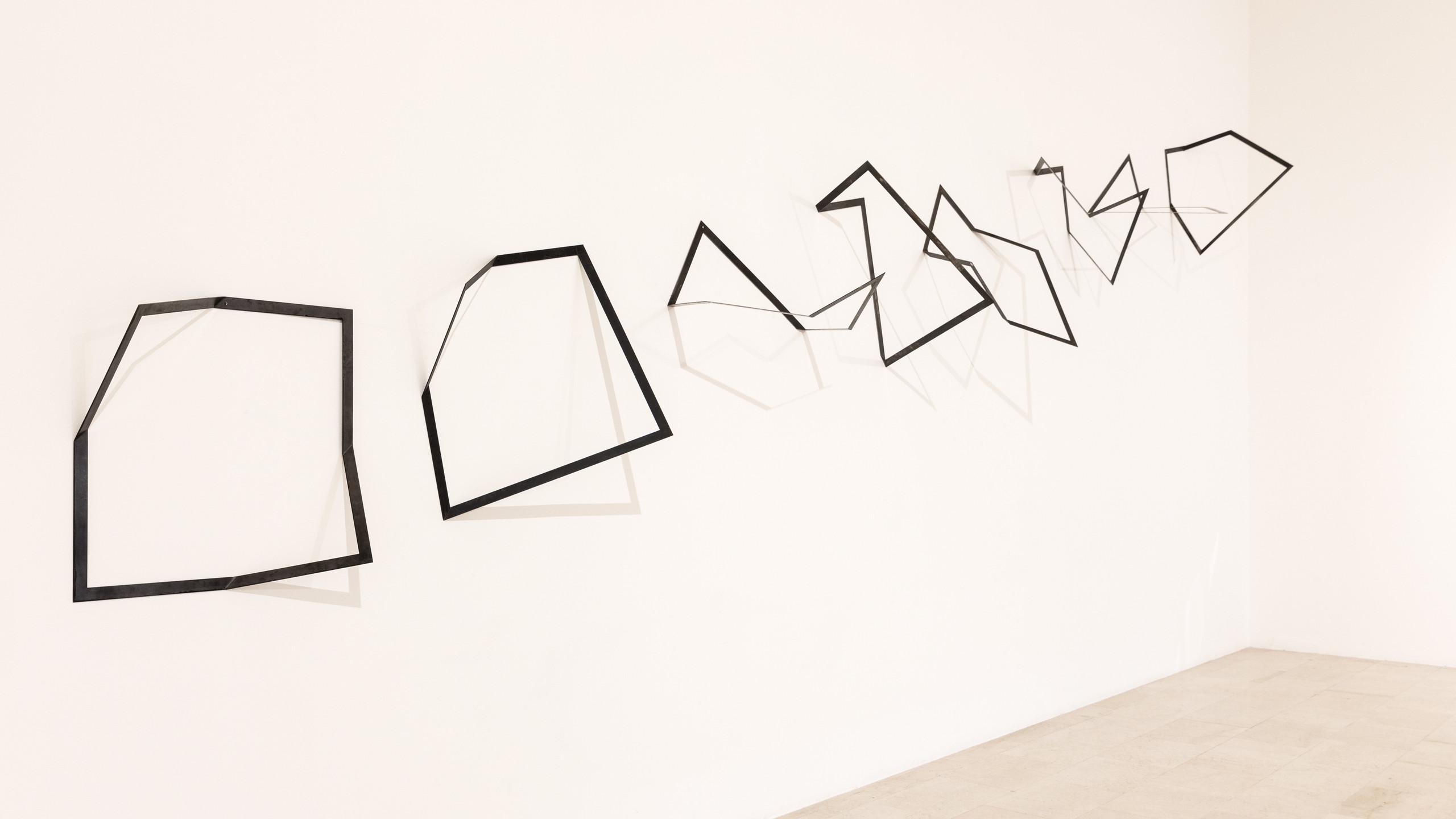 """Installation views: """"Grazia Varisco allineamenti scorrevoli ricorrenti"""" Photo by: Gianluca di Loia. Courtesy: La Triennale di Milano – Cortesi Gallery London, Milan, Lugano"""