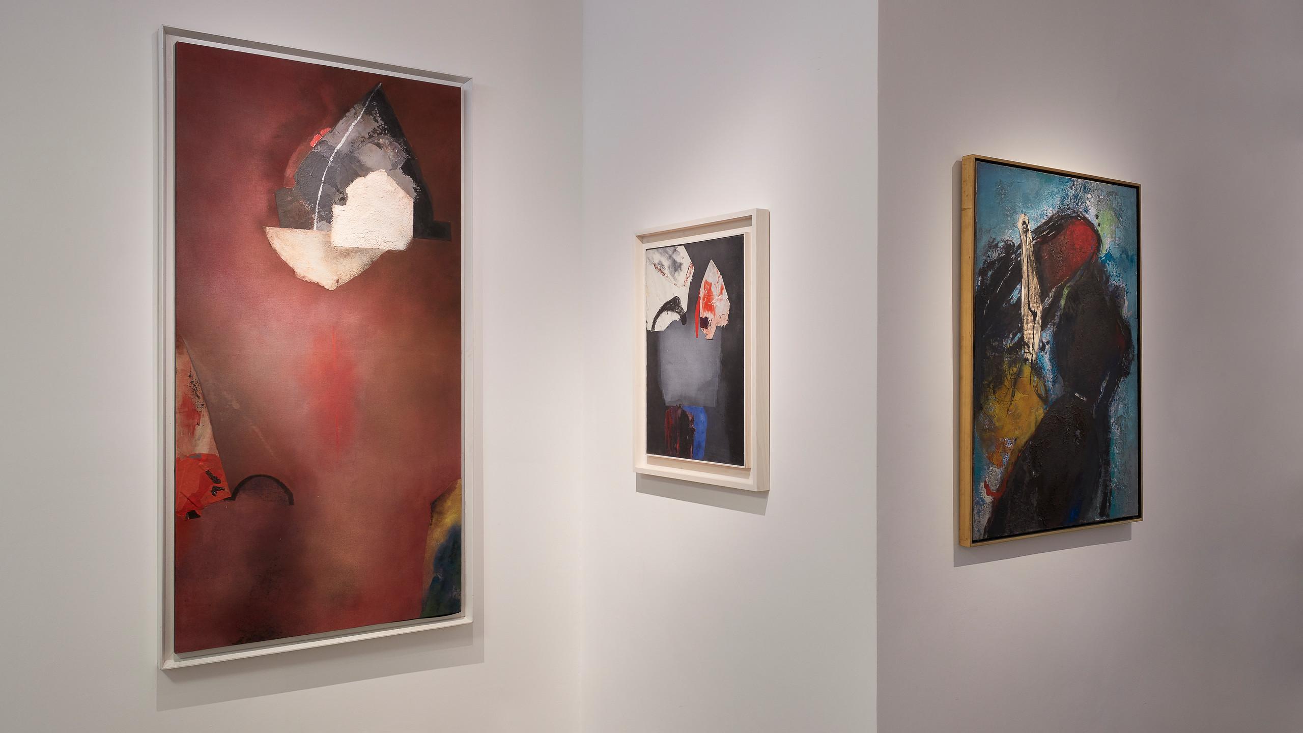 Installation view, Giuseppe Santomaso: Animated Painting, Cortesi Gallery, London, 2019. Photo: Luke A. Walker