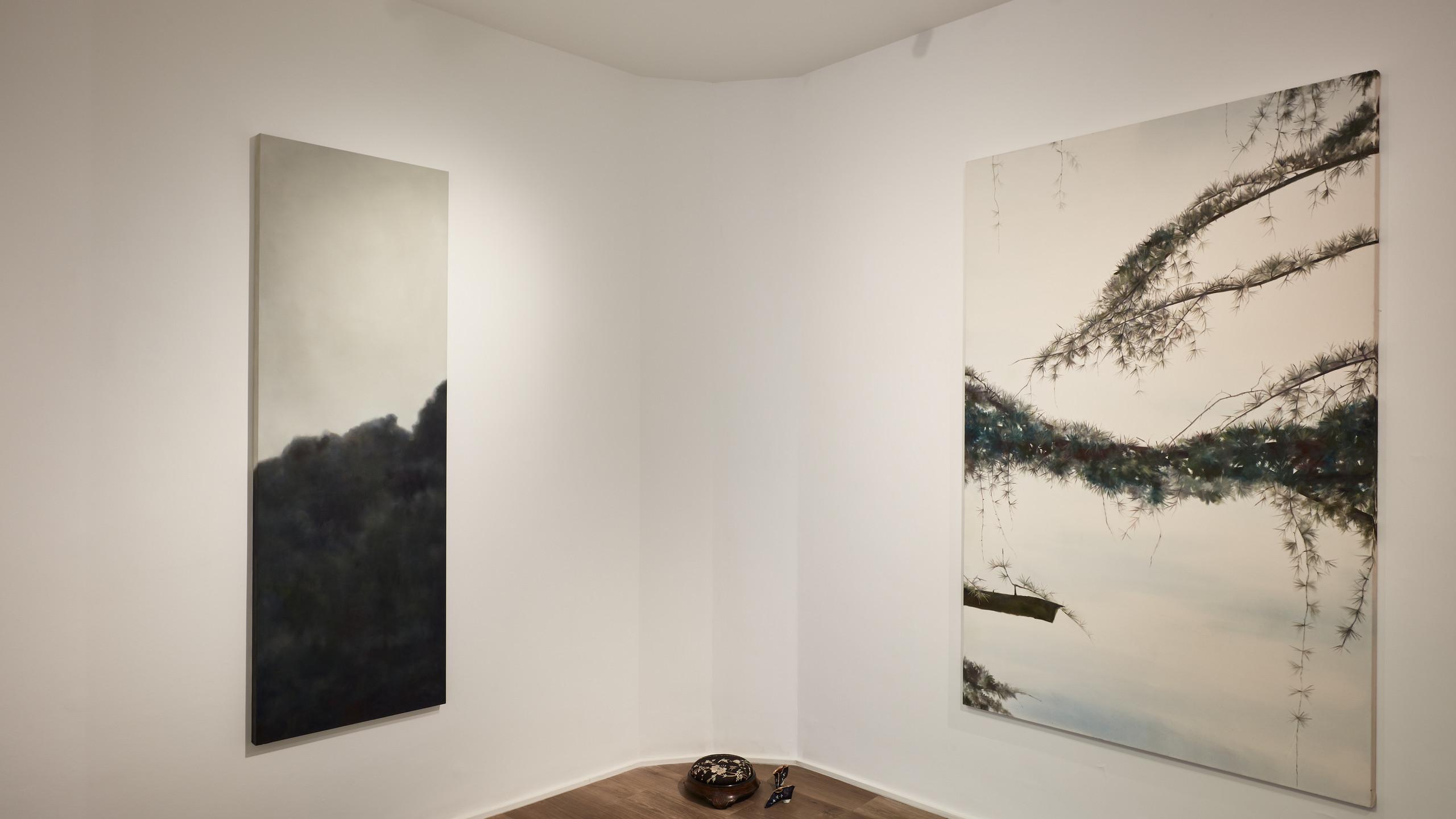 "Installation views, ""Angela Lyn: floating gardens"", Cortesi Gallery London Photo by Luke A. Walker. Courtesy Cortesi Gallery London, Milan, Lugano"