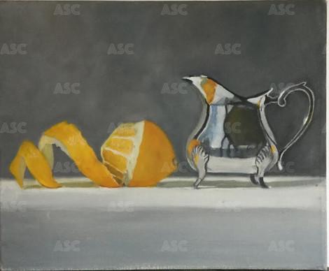 Lemon and Silver Jug