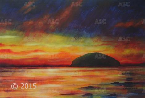 Ailsa Craig, Stormy Sunset