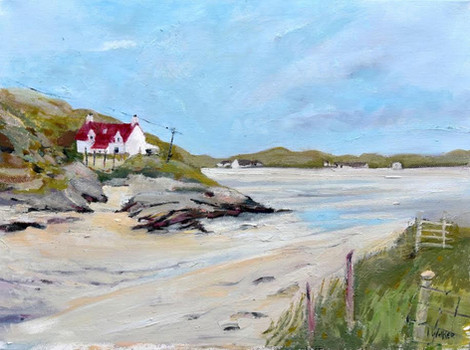 Red Roofed Cottage, Barra