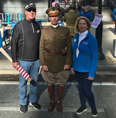 "We met ""General Pershing"" at the Veterans Day Parade."