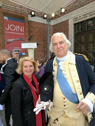 George Washington also attended the opening of the Museum of the American Revolution.