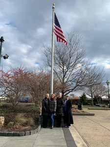 Our chapter sponsored the American and Irish Flags at the Philadelphia Irish Memorial.
