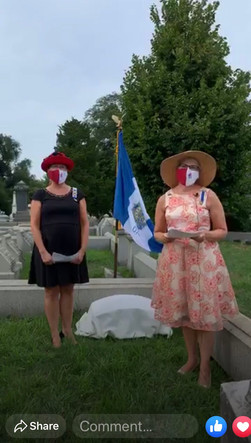 Grave marking ceremony at Laurel Hill was a Facebook live event.