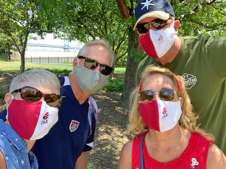 Sporting new DAR logo masks!